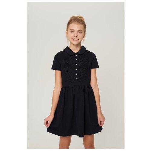 Купить Платье INFUNT размер 140, темно-синий, Платья и сарафаны
