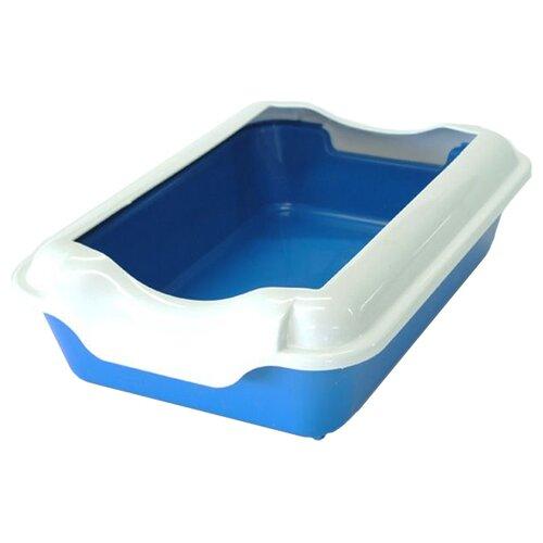 Туалет-лоток для кошек Homecat 3519745/3519721/3519684/3519769/3519707/3519721_оливковый 37х27х11.5 см синий 1 шт.