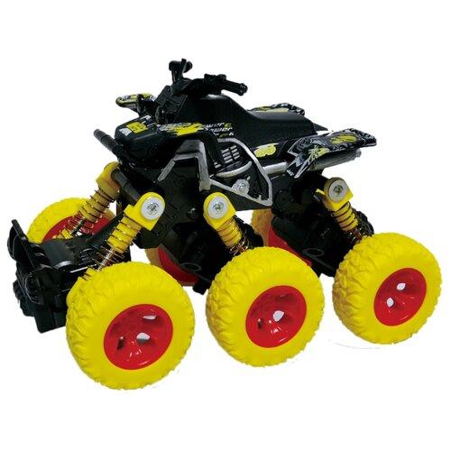 Квадроцикл die-cast, инерционный механизм, рессоры, 6*6, желтый Funky toys FT61065