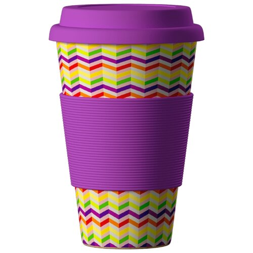 Тамблер BAMBOOCUP Eco Зиг-Заг (0,4 л) фиолетовый