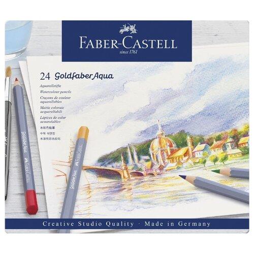 цена Faber-Castell Акварельные карандаши Goldfaber Aqua, 24 цвета (114624) онлайн в 2017 году