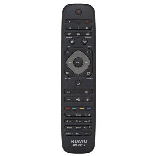 Фото - Пульт ДУ Huayu RM-D1110 для телевизоров Philips черный пульт ду huayu rm 836c для для телевизоров philips rc1205b 30063555 rc0770 rc19036002 rc19036001 rc19042001 серый