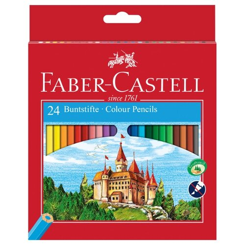 Купить Faber-Castell Карандаши цветные Замок 24 цвета (120124), Цветные карандаши