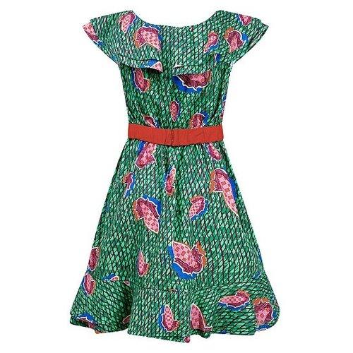 Платье Stella Jean размер 152, зеленый/красный/розовый/синий платье oodji ultra цвет красный белый 14001071 13 46148 4512s размер xs 42 170