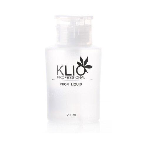 Купить KLIO Professional Жидкость 2 в 1 для обезжиривания и снятия дисперсионного слоя с ногтевой пластины 200 мл, с дозатором
