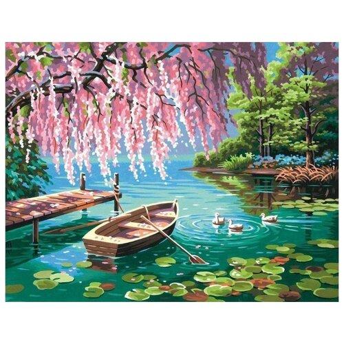 Купить Картина по номерам Цветной Причал , 40x50 см, Картины по номерам и контурам