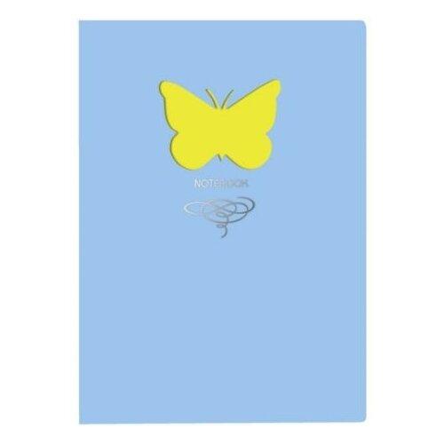Купить Блокнот Канц-Эксмо Paper Art. Butterfly (голубой) А6+, 80 листов (КЗБФЛ6802934), Блокноты