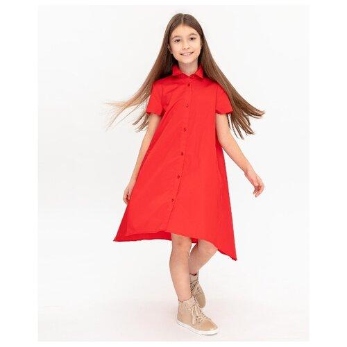 Платье Gulliver размер 140, красный платье oodji ultra цвет красный белый 14001071 13 46148 4512s размер xs 42 170