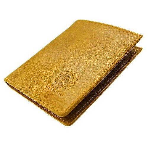 Фото - Портмоне Apache ВП-А, желтый портмоне кожаное для документов и денег вп а табачно желтое apache