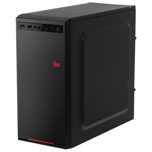 Настольный компьютер iRu Home 120 MT (1187711) Mini-Tower/AMD E1-2500/4 ГБ/1 ТБ HDD/AMD Radeon HD 8240/DOS черный компьютер