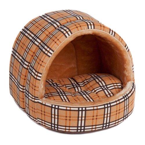 Домик для собак и кошек Зоо Фортуна Эстрада люкс 2 №2 43х38х37 см коричневый лежак для кошек для собак зоо фортуна чай 2 м 271 80х50х8 см бежевый коричневый