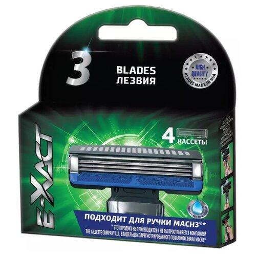 Сменные кассеты E-xact (Mach3), 4 шт.