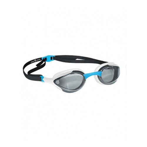 Очки для плавания MAD WAVE Alien white/black/azure очки для плавания mad wave triathlon azure clear black