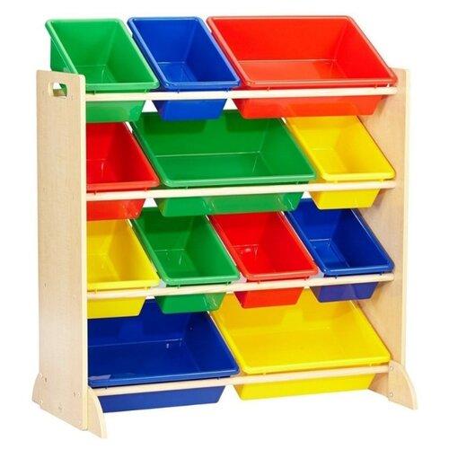 Купить Система для хранения с 12 контейнерами, KidKraft, Хранение игрушек