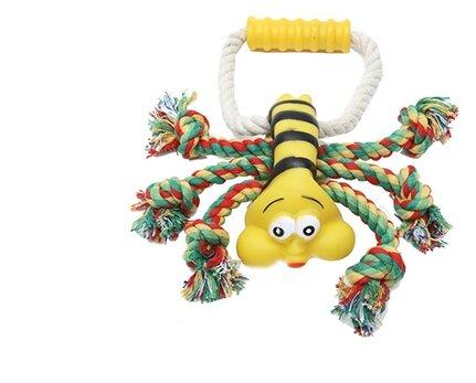 Игрушка для собак КАСКАД Пчелка с ручкой (27799299)