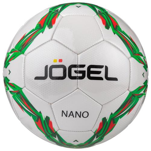 Футбольный мяч Jogel Nano бежевый/зеленый/красный 5