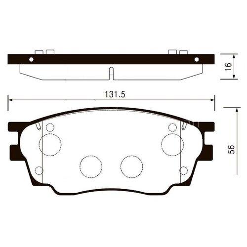 Фото - Дисковые тормозные колодки передние SANGSIN BRAKE SP2027 для Mazda 6 (4 шт.) дисковые тормозные колодки передние ferodo fdb4446 для mazda 3 mazda cx 3 4 шт