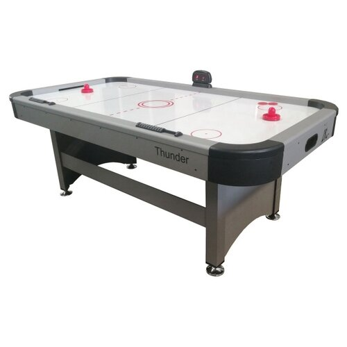 Игровой стол для аэрохоккея DFC Thunder DS-AT-06 серый/черный