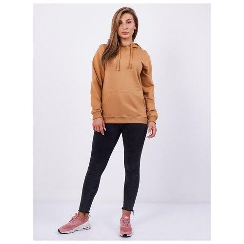Толстовка женская, карман кенгуру, цвет тёмно-бежевый, размер 48