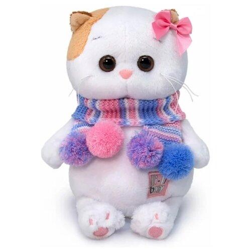Купить Мягкая игрушка Basik&Co Кошка Ли-Ли baby в полосатом шарфике 20 см, Мягкие игрушки