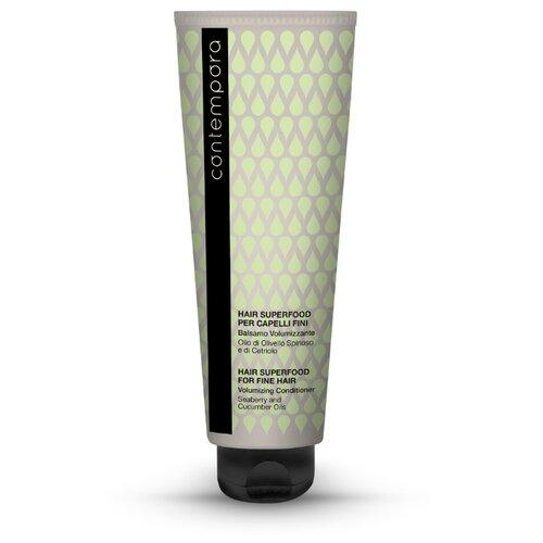 Barex Кондиционер для волос Contempora Volumizing Conditioner для придания объема с маслом облепихи и огуречным маслом, 400 мл