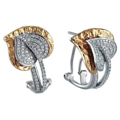 JV Серьги из золота 585 пробы и белого золота 585 пробы с бриллиантами H846DWC4TG-WJ