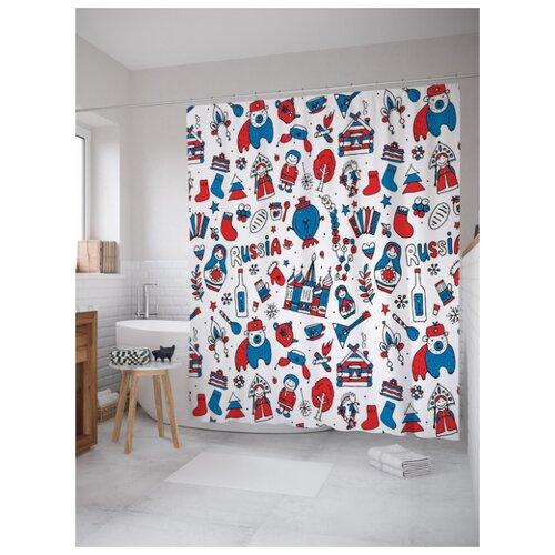 Штора для ванной JoyArty Символы России 180х200 (sc-68930716) разноцветный