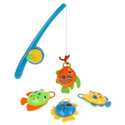 Купить Рыбалка Играем вместе Три кота B1364086-R синий/желтый/зеленый/оранжевый, Развитие мелкой моторики