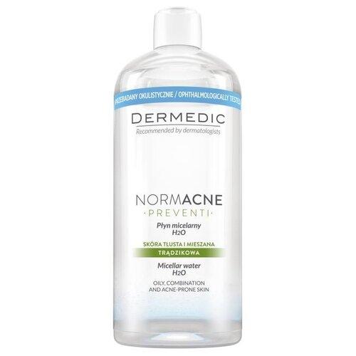 Мицеллярная вода DERMEDIC Нормакне H2O для жирной кожи 500 мл