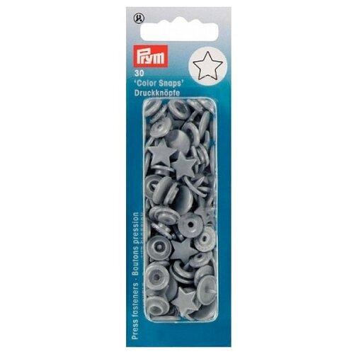 Купить Prym Кнопки непришивные Color Snaps звезда 393245, серебристо-серый, 30 шт.
