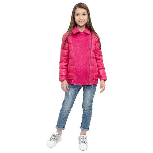 Купить Бомбер Gulliver 12007GJC4101 размер 158, розовый, Куртки и пуховики