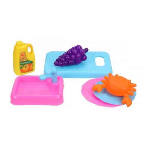 Купить Набор продуктов с посудой Наша игрушка 806-8, Игрушечная еда и посуда