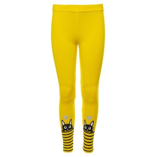 Купить Легинсы M&D М1346 размер 92, желтый, Брюки и шорты