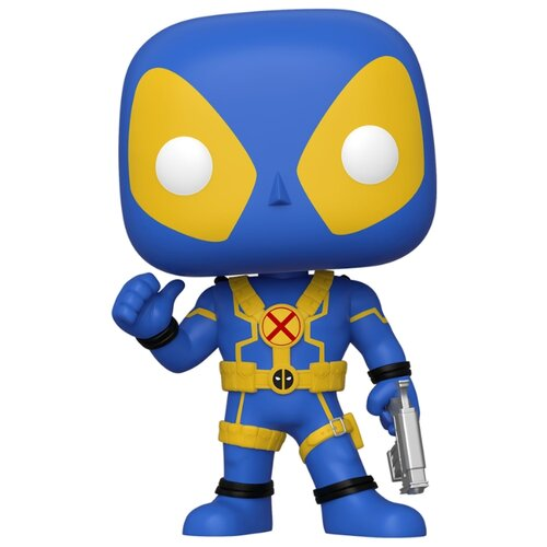 брелок deadpool head 3d Фигурка Funko POP: Deadpool – Deadpool Thumbs Up (Blue & Yellow) Bobble-Head (25,4 см)