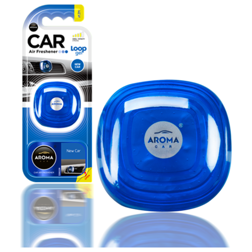 Ароматизатор автомобильный на дефлектор Aroma Car LOOP Gel, New Car