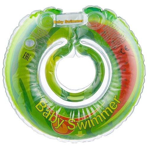 Купить Круг на шею Baby Swimmer Флора 0m+ (6-36 кг) веселый арбуз, Круги на шею