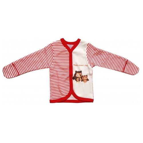 Распашонка Newborn размер 56, белый/красный платье oodji ultra цвет красный белый 14001071 13 46148 4512s размер xs 42 170