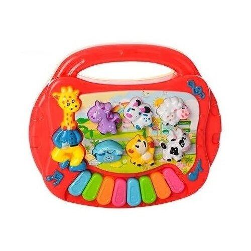 Купить TONG DE пианино Е-нотка T364-D3444 оранжевый, Детские музыкальные инструменты