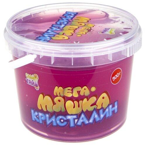 Лизун 1 TOY Мега-Мяшка Кристалин фиолетовый