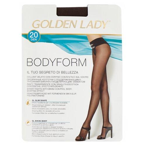 Колготки Golden Lady Bodyform 20 den, размер 2-S, fumo (серый) носки bodyform белый 44 размер