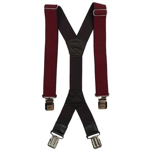 Фото - Подтяжки мужские X, ширина 40 мм, рифленые, цвет: бордовый подтяжки stilmark рифленые mono
