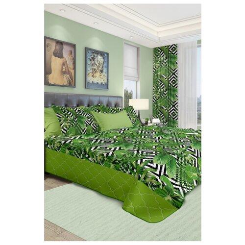 Покрывало Naturel Модерн 240 x 240 см, зеленый