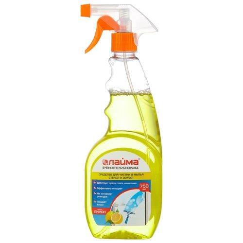 Спрей Лайма Professional Лимон для мытья стекол и зеркал (триггер) 750 мл