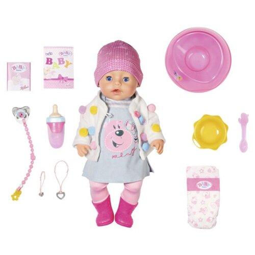 Фото - Интерактивный пупс Zapf Creation Baby Born Стильная Весна, 43 см, 826-690 интерактивный пупс baby doll