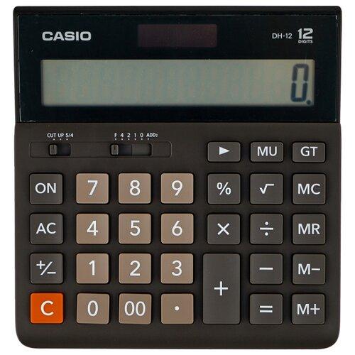 Калькулятор бухгалтерский CASIO DH-12-BK-S черный/серый