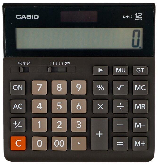 Калькулятор бухгалтерский CASIO DH-12-BK-S