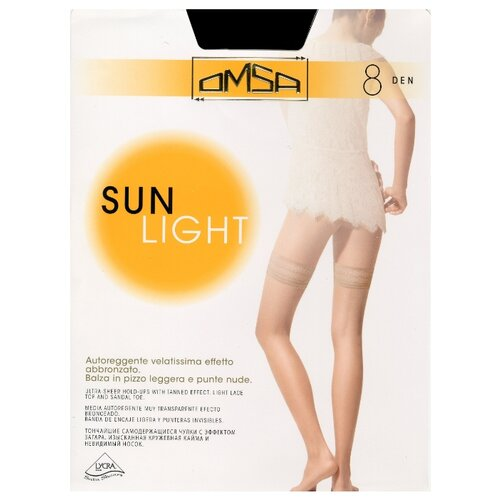 Колготки Omsa Sunlight 8 den camoscio 2-S (Omsa)Колготки и чулки<br>