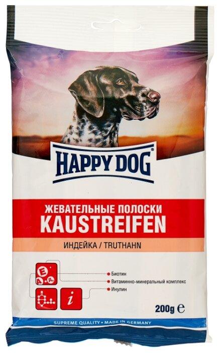 Лакомство для собак Happy Dog Жевательные полоски с индейкой, 200 г
