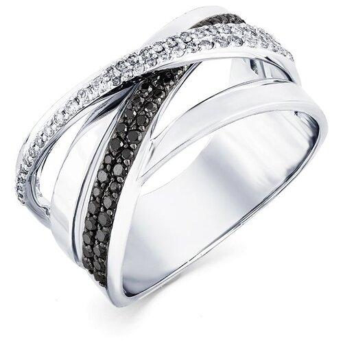 Мастер Бриллиант Кольцо с 91 бриллиантом из белого золота 1-207850-00-55, размер 17.5