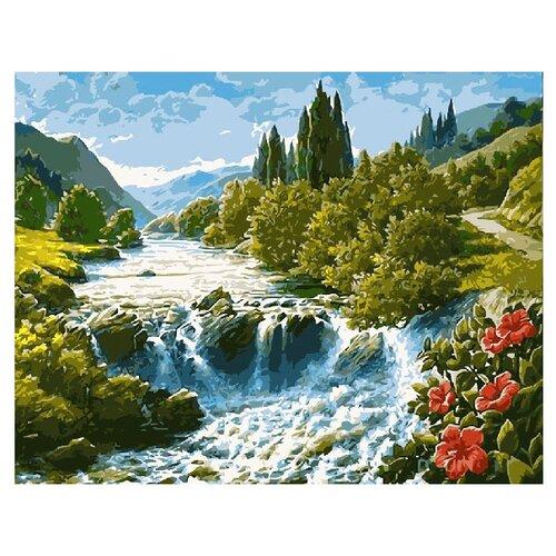Купить ВанГогВоМне Картина по номерам Водопад , 40х50 см (ZX 20033), Картины по номерам и контурам
